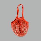 Трендовая хозяйственная сумка-авоська из хлопка от Tchibo(Германия). В лоте красная !