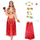 карнавальные гавайские украшения в лоте только украшения!!!! как на фото 2