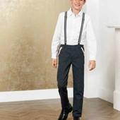 pepperts стильные хлопковыре брюки с подтяжками 164