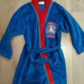 Плюшевый халат на мальчика 7-8лет