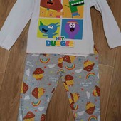 Котонновая пижама на 5-6лет от Primark