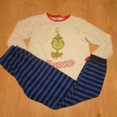 Пижама Grinch kids кофта х\б,штаны флис состояние отличное