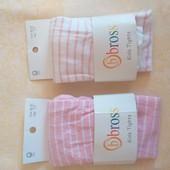 Леггинсы Bross р.98-104, цвет белый, розовый, в желтое сердечко. Отличное качество!