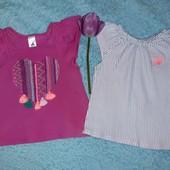 2 красивые фирменные футболочки в идеале,на девочку 3-4 годика