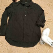 Рубашка с кармашками и красивой вышитой спинкой