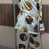 Шикарна атласна піжама Gucci