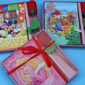 Красивый подарочный набор: блокнот с ключем + роза