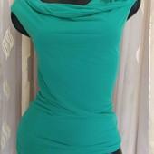 зелёная блуза из вискозы