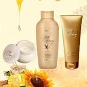 Набор для тела Oriflame milk & honey gold : крем для душа, скраб, крем для тела