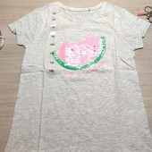 Польша! Лёгкая коттоновая футболка для девочки! 152 рост! 329 грн по ценнику!