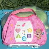 Обучающая развивающая интерактивная игрушка сумочка Fisher-price!!!!