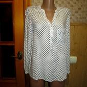 Качество!Натуральная блуза/рубашка, удлиненная спинка от американско бренда Esprit в новом состоянии