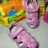 18 см. Нежно розовые сандали, босоножки с защитой носка