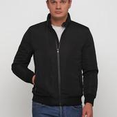 Стеганая демисезонная куртка - бомбер с утеплителем на молнии от Sobrino , размер Л