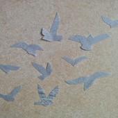Интерьерные птички серые