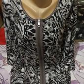 Эксклюзивная с разноцветным принтом со стразами и трикотажная блузка новая.3xl,4xl,5xl.Лотов много