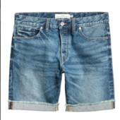 Джинсовые шорты h&m большого размера,42 евр.