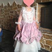 Нарядное бальное платье на утренники, р-р 110-116