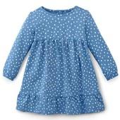 ☘ Миле плаття з органічної бавовни для маленької модниці, Tchibo (Німеччина), р .: 74/80, міні-нюанс