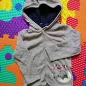 Хлопковая кофта для мальчика 74-80см