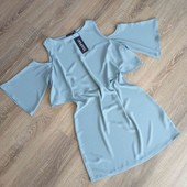 Новое, летнее платье с открытыми плечиками, Boohoo, p. L-XL