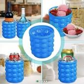 Форма для льда Ice Cube Maker Genie ведро для заморозки льда силиконовое для охлаждения напитков