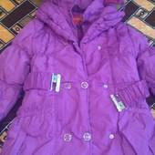 Зимняя куртка для девочки 122 рост