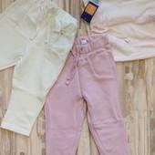 Шикарный комплект тепленьких фирменных штанишек девочке 6-12 месяцев. Сотни лотов.