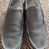 Мужские летние туфли с перфорацией.