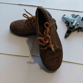 Туфли из натуральной замши, внутри кожа