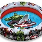 Надувной бассейн 100см диаметр. Мстители. Супер герои. Марвел.