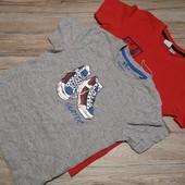 Германия! Коттоновые футболки на мальчика 2 шт 110-116 см рост