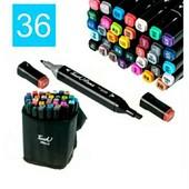 Набор маркеров TouchRaven black на спиртовой основе  36 шт