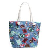 Пляжная текстильная сумка Цвет на выбор