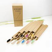 Набор из 10 экологических натуральных бамбуковых зубных щеток эко-щетки для зуб