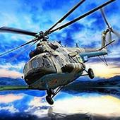 """Алмазная вышивка """"Вертолет"""" .Полная выкладка. Холст 30* 39 см"""