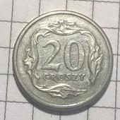 Монета Польши 20 грошей 2009