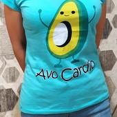 Хлопковые футболочки Авокадо.пр-во Турция!