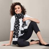 ☘ Красивий тканий шарф в ромашки від Tchibo (Німеччина), розмір: 180 х 90 см