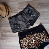 Шикарные джинсовые шорты хс с h&m