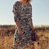 ☘ Сукня міді в дизайні зебри від Tchibo (Німеччина), розміри наші: 46-48 (40 євро)