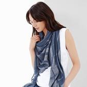 Шикарная стильная большая шаль палантин от Tchibo германия размер 150 на 150 см