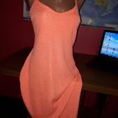Яркое платье на тоненьких бретелях. Размер L - XXL
