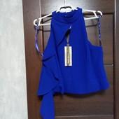 Фирменный новый красивый блуза-топ с рюшей р.16