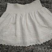 Лёгкая гепюровая юбочка с карманами на худенькую девушку или девочку подростка