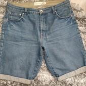 Стильные мужские джинсовые шорты на пышные формы, р.16/18 в хорошем состоянии
