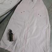 Крутая нежно розовая летняя юбка с карманами