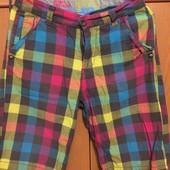 Яркие натуральные шорты. 158-164