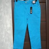 Фирменные новые коттоновые укороченные брючки-джинсы р.10-14