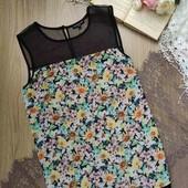 Лёгкая,цветастая шифоновая блузка,размер Л